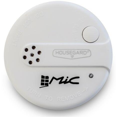 """5x Nemaxx Mini-designer détecteurs de fumée /""""ELEGANCE/"""" 5 ans Batterie Blanc pastilles"""