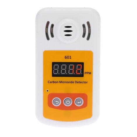 Mini detector de monoxido de carbono portatil, medidor de gas CO, con alarma de sonido y luz