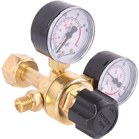 MINI Druckminderer für Schutzgas Argon / Co² Mehrwegflaschen Druckregler von Harris