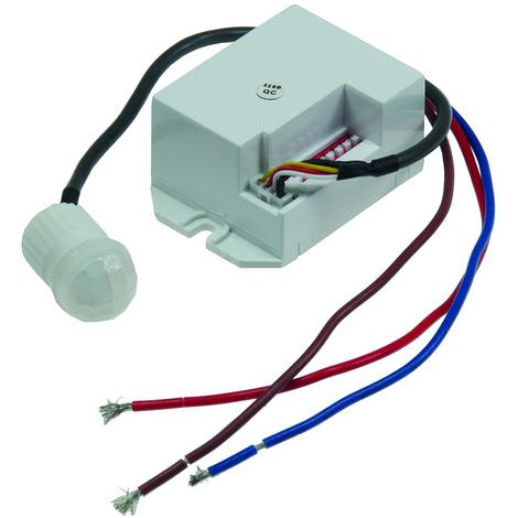 Mini Einbau-Bewegungsmelder 230V, 800W, Ø 15mm, LED geeignet, weiß