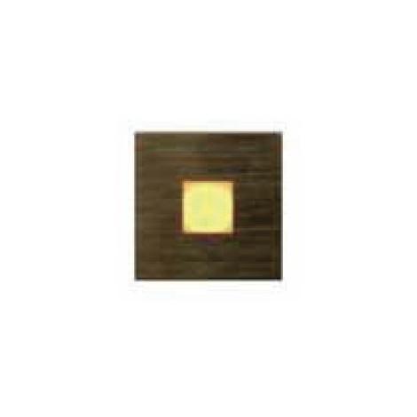Mini encastré mural LED 0.2W carré 30X30mm acier brossé diffuseur verre lumière blanc chaud avec alimentation 230V IP20 GLOVER
