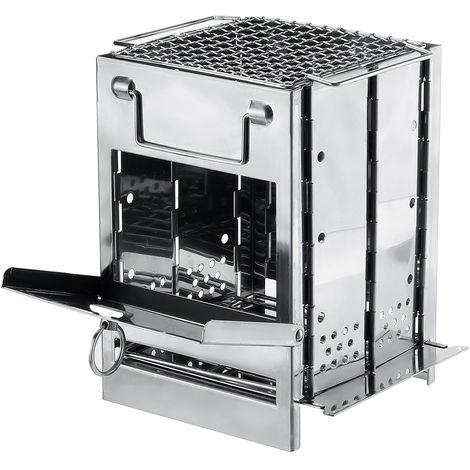 Mini estufa de barbacoa plegable portátil Cajón al aire libre Parrilla Conjunto de picnic de acero inoxidable LAVENTE