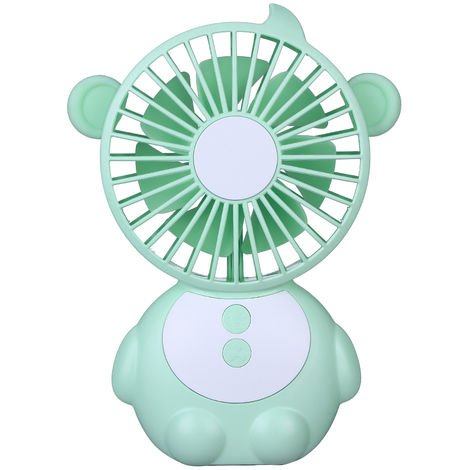 Mini fan and LED light USB port blue