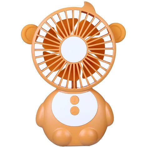 mini fan and LED light USB port orange