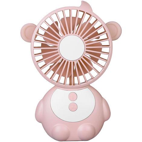 Mini fan and LED light USB port pink