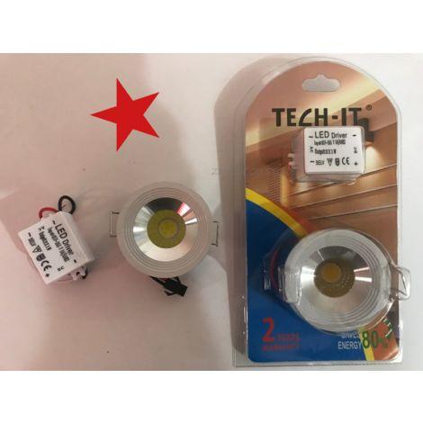 """main image of """"Mini Faretto 3W COB LED Incasso Punto Luce Calda / Fredda"""""""