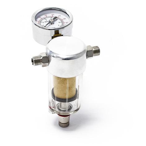 """Mini filtre à air et séparateur d'eau avec manomètre pour aérographe 9,51 mm (1/8"""")"""