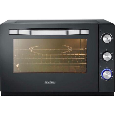 Mini-four Severin TO 2066 TO 2066 avec réglage manuel de la température, fonction minuteur, filaire, avec pierre à pizza, Fonction chaleur tournante 60 l 1