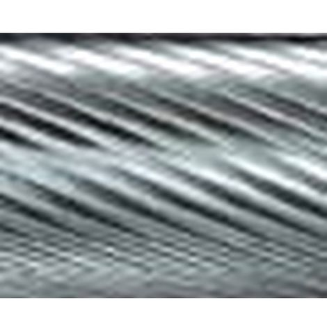 Mini-fresa en varilla de 3 mm, de carburo DIN 8032/8033, forma ojiva de extremo puntiagudo SPG (arc ogival), dentado 5, forma : SPG 0313, Ø de la cabeza 3 mm