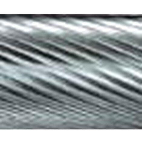 Mini-fresa en varilla de 3 mm, de carburo, forma cilíndrico ZYA, dentado 5, forma : ZYA 0607, Ø de la cabeza 6 mm, Largo de cabeza 7 mm, Largo total : 37 mm