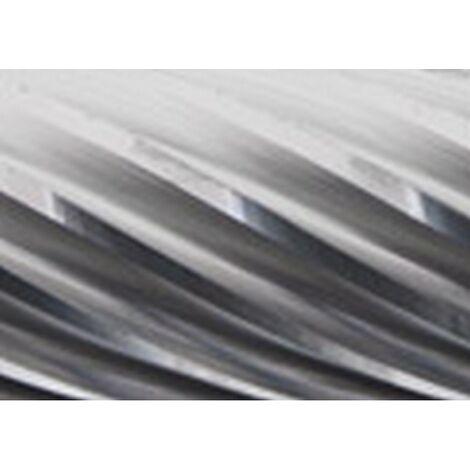 Mini-fresa en varilla de 3 mm, de carburo, forma esférico cilíndrico WRC (extremo ronda), dentado INOX, forma : WRC 0613, Ø de la cabeza 6 mm