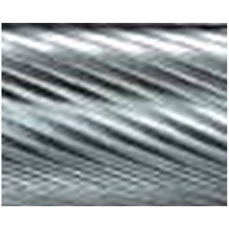 Mini-fresa en varilla de 3 mm, de carburo, forma llama B, dentado 5, forma : B 0613, Ø de la cabeza 6 mm, Largo de cabeza 13 mm, Largo total : 43 mm