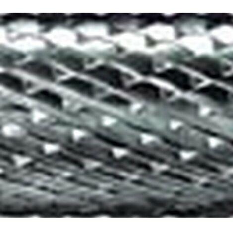 Mini-fresa en varilla de 3 mm, de carburo, forma ojiva de extremo ronda RBF, dentado 4, forma : RBF 0613, Ø de la cabeza 6 mm