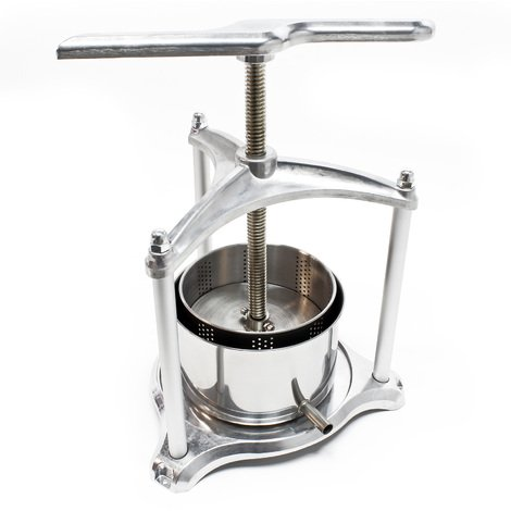 Mini-Fruit press Berry press Fruit press aluminium 3 l stainless steel basket