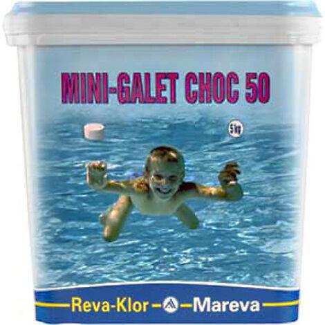 Mini galets de chlore MAREVA traitement choc pour piscine - 5 kg - 125 g - 100209U