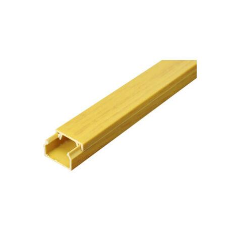 Mini goulotte adhésive 12 x 8 mm couleur pin Electro Dh 48.000/12X8/P 8430552122448