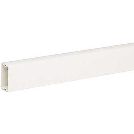 Mini goulotte Blanc en PVC, 38 mm x 25mm 2m