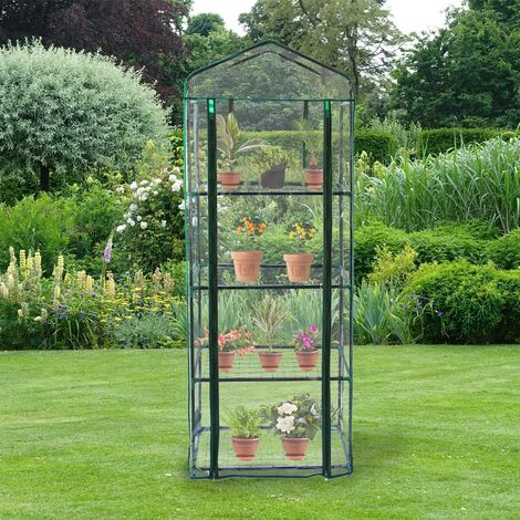 """main image of """"Mini Greenhouse 4 Tier with Plastic Cover"""""""