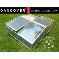 Mini greenhouse Cold Frame 1.19 m², 1.08x1.10x0.40 m, Aluminium