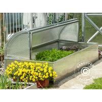 Mini greenhouse Cold Frame LOTOS 1.87 m², 0.89x2.10x0.80 m, Silver