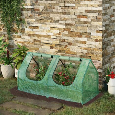 """main image of """"Mini Greenhouse Portable Flower Planter Vegetable House with Zipper - 120 x 60 x 60 cm Outsunny"""""""