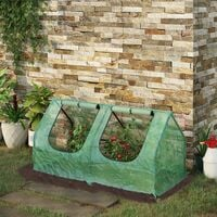 Mini Greenhouse Portable Flower Planter Vegetable House with Zipper - 120 x 60 x 60 cm Outsunny