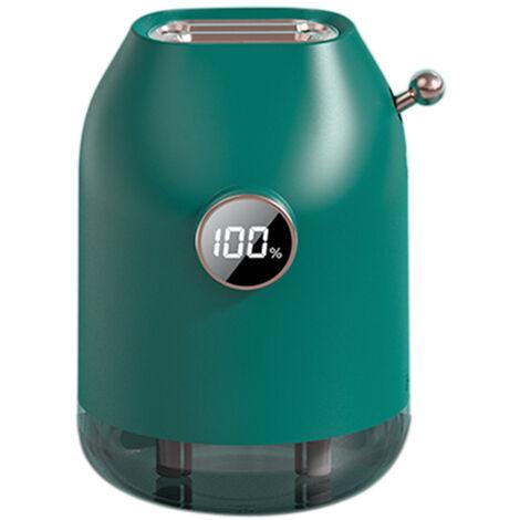 Mini humidificateur moderne portable 3 modes de pulverisation 500 ml batterie rechargeable integree 4000 mAh verte