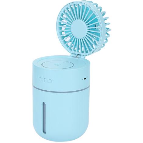 Mini Humidifier Fan Spray USB Powered Blue