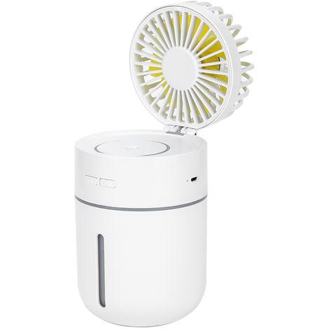 Mini Humidifier Fan Spray USB Powered White