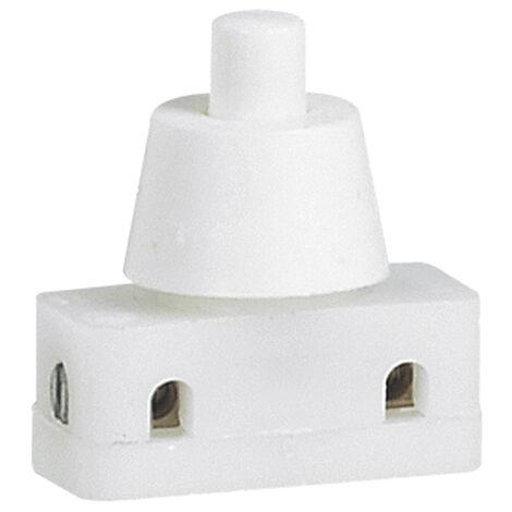 Mini-interrupteur 2A 250V~ à poussoir pour pied de lampe avec bague de fixation