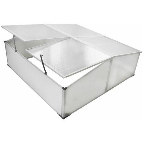 Mini invernadero de policarbonato 108 x 41 x 110 cm / 4 tapas