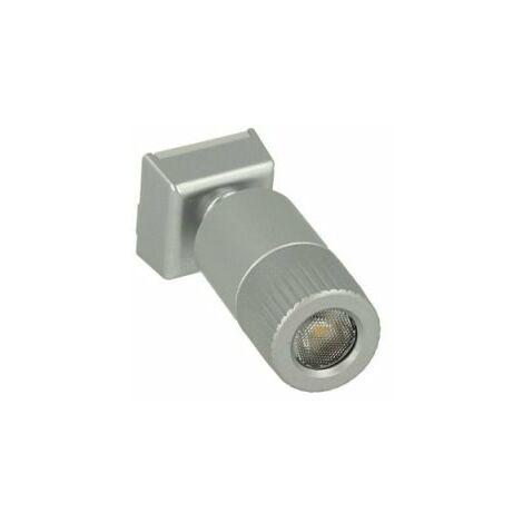 Mini Lampada Binario Faretto Led 12V 1W Bianco Neutro Snodabile Per Sistema Binario Guida Barra Plastica Elettrificata CB2107