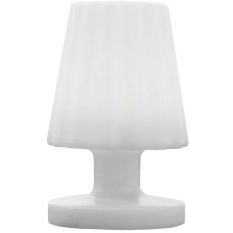 Mini lampe à poser rechargeable sans fil LED blanc chaud dimmable LADY MINI H22cm