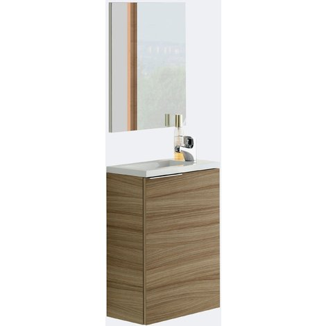 MINI Lave main + miroir + lavabo résine NATURE, 58 x 40 x 22 cm