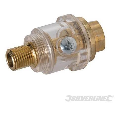 mini lubricador de aceite en l/ínea profesional NPT de 1//4 pulg Engrasador en l/ínea Accesorio de herramienta neum/ática de cobre de color dorado