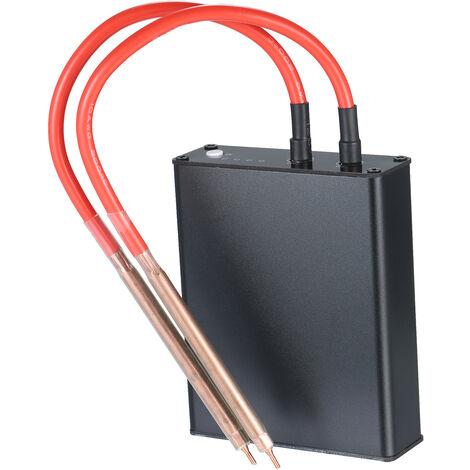 Mini maquina de soldadura portatil de mano de bricolaje soldadora por puntos de soldadura con el kit USB Pen Cable uso en el hogar Pequeno Soldador por 18650 bateria de litio, Negro, Micro-USB