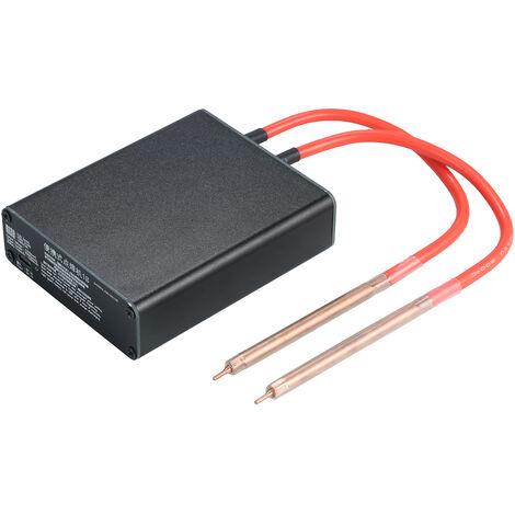 Mini maquina de soldadura portatil de mano de bricolaje soldadora por puntos de soldadura con el kit USB Pen Cable uso en el hogar Pequeno Soldador por 18650 bateria de litio, Negro, Tipo C