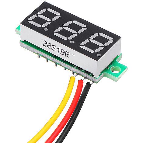 Mini Meter Digital Voltmeter Tester Voltage 0.28 Inch 2.5V-30V WASHED