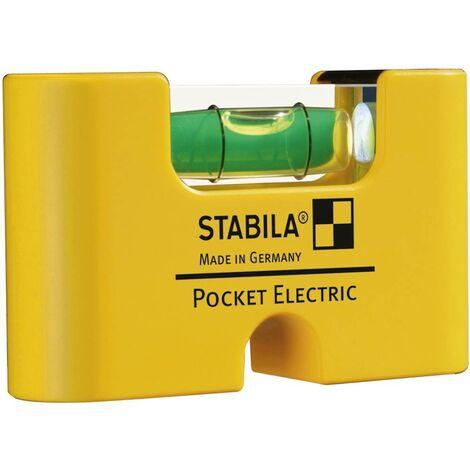 Mini niveau à bulle Stabila POCKET ELECTRIC 17775 70 mm 1 mm/m Etalonnage: dusine (sans certificat) 1 pc(s)
