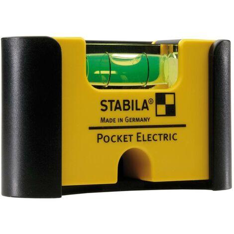 Mini niveau à bulle Stabila Pocket Electric 18115 7 cm 1 mm/m Etalonnage: dusine (sans certificat) 1 pc(s)