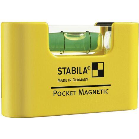Mini niveau à bulle Stabila POCKET MAGNETIC 17774 7 cm 1 mm/m Etalonnage: dusine (sans certificat) 1 pc(s)