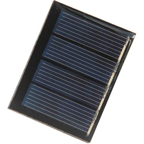Mini panel solar de silicio policristalino de celulas solares, panel solar de energia portatil impermeable para acampar DIY