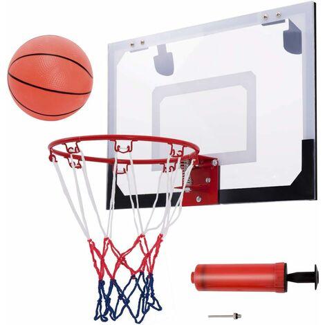 Mini Panier de Basket 46 x 30,5CM Murale avec Basketball,Gonfleur et Aiguille dans Chambre,Salle de jeux
