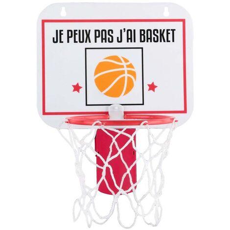 Mini panier de basket mural ou pour corbeille à papier Blanc - Blanc