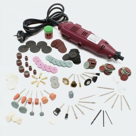 Mini perceuse foreuse fraiseuse polisseuse avec tige flexible 234 accessoires outil multifonctions bricolage atelier - Or