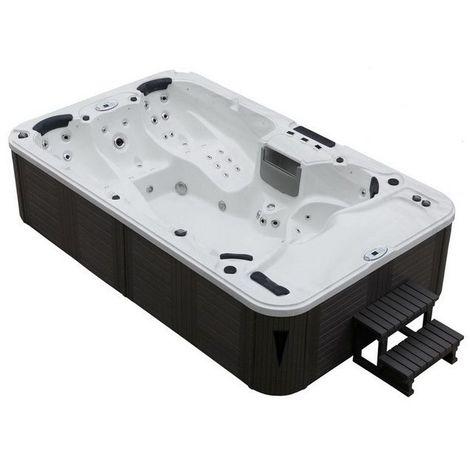 Mini piscina cm 380x230x93 cm per 7 persone 79 idrogetti minipiscina con riscaldatore in diversi colori