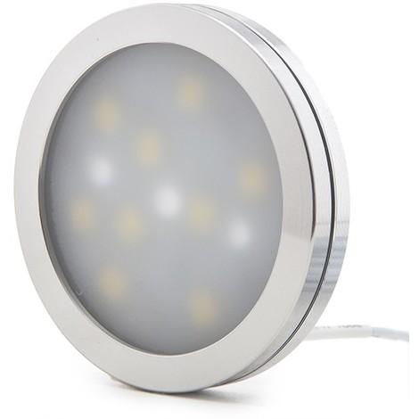 Mini Plafón LED Superficie Muebles 2W 200Lm 30.000H Cable 2M   Blanco Natural (KD-CL6008L-2W-W)