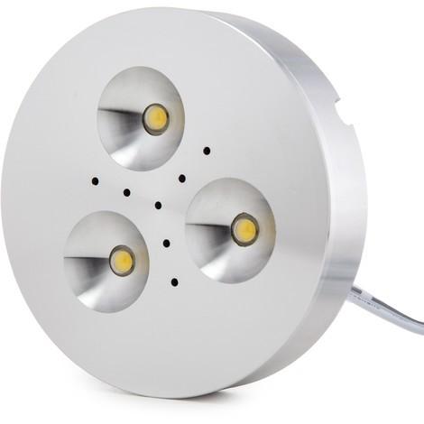 Mini Plafón LED Superficie Muebles 3,5W 300Lm 30.000H Cable 2M   Blanco Natural (KD-CL7015L-3.5W-W)