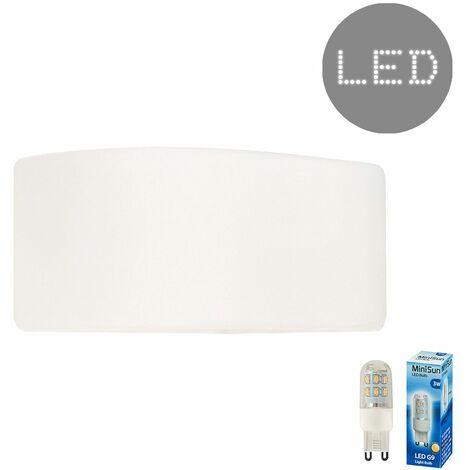 Mini Planter Flush Wall Wash Light Fitting + 3W LED G9 Bulb