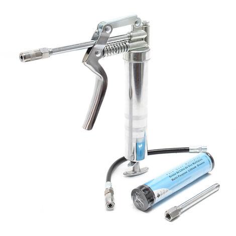 Mini Pompe à graisse Cartouche Kit Usage manuel Avec Accessoires 90ml Graisseur Lubrification